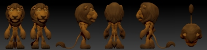 Finished Zbrush Lion