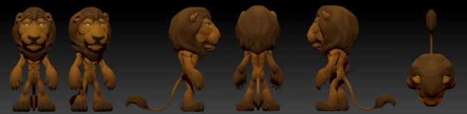Finished Zbrush Lion